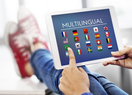 Vlag Landen Buitenlandse International Symbol Concept Stockfoto