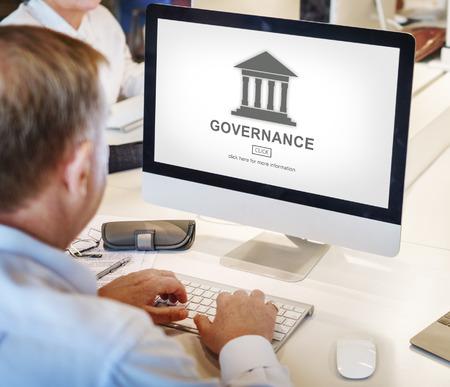 autoridad: Authority Government Pillar Graphic Concept