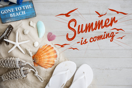 Summer Break Fun Party Banner Concept Фото со стока