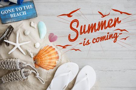 Summer Break-Spaß-Party Banner-Konzept Standard-Bild - 64076660