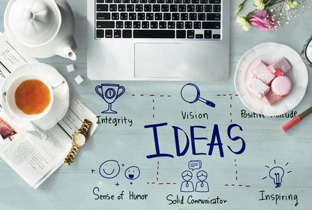 newspaper cartoons: Ideas Vision Icon Illustrations Concept Stock Photo
