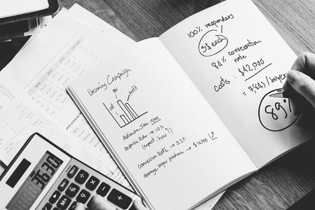 calculate: Financial Calculate Budget Calculator Balance Concept