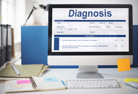Diagnosis Clinical Document Personal Informatin Concept Stock Photo
