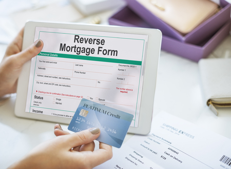 reverse: Reverse Mortgage Form Payslip Purchase Order Concept