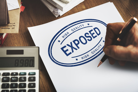 exponential: Exposed Disclosed Declarative Indicative Relating Concept Stock Photo