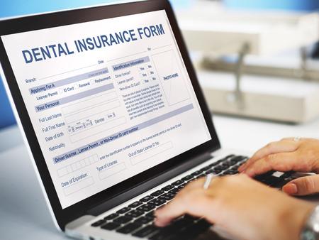 dental insurance: Dental Insurance Form Dentist Concept