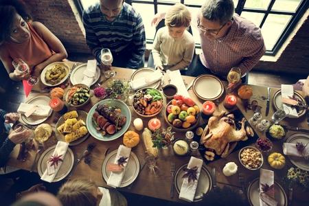 Thanksgiving Celebration Tradition Family Dinner Concept
