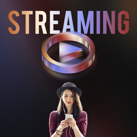 live stream listening: Digital Music Streaming Online Entertainment Media Concept