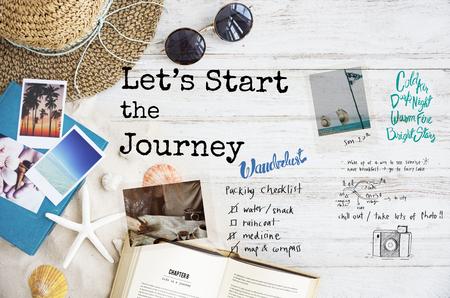 Lets Starrt The Journey Travel Concept