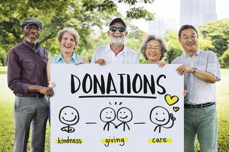 Las donaciones de caridad de recaudación de fondos sin fines de lucro Concepto de Voluntarios Foto de archivo - 64078292