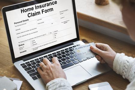 compensate: Home Insurance Claim Form Document Refund Concept