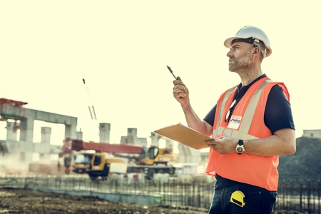 construction materials: Architecture Construction Safety First Career Concept Stock Photo