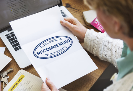 recommended: Recommended Offer Refer Satisfaction Suggestion Concept Stock Photo