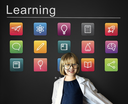 geeky: E-learning Online Education Application Concept