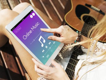 Music Multimedia Sound Entertainment Concept 版權商用圖片