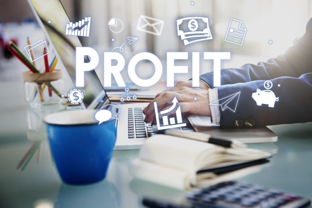 Profit Earnings Income Financial Economy Proceeds Concept Stock Photo