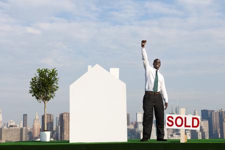 vend: Businessman Investor Construction Sale Property Concept Stock Photo