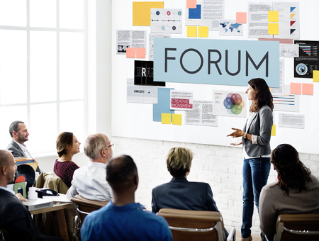 message board: Foum Communication Information Message Concept