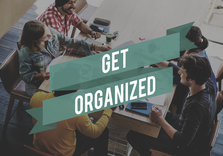 organized: Organized Ideas Management Productivity Concept Stock Photo
