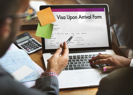 visa: Visa Upon Arrival Form Concept Stock Photo