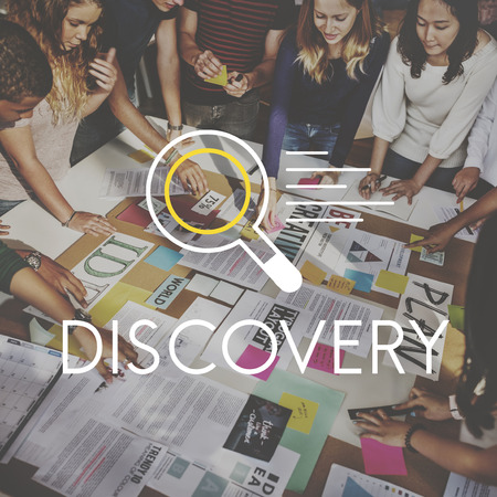 Discovery Research Results Knowledge Concept Stock Photo