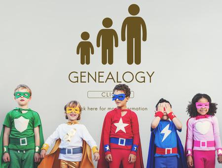 genealogy: Genealogy Family Generations Relationship Concept