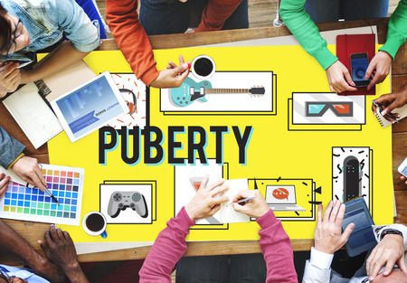 pubertad: Puberty Adolescence Age Change Growth Life Concept