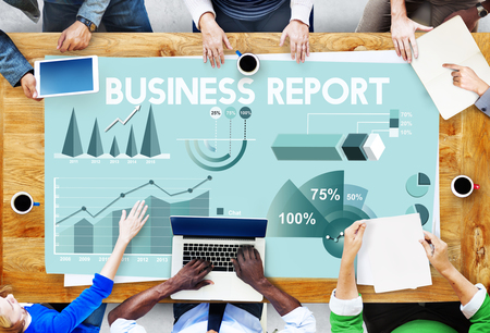 business report: Business Report Analytics Marketing Report Concept Stock Photo