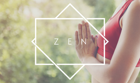 mindful: Zen Balance Health Live Life State Mindful Breath Concept Stock Photo