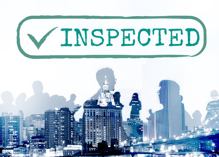 approve: Inspected Allow Approve Authority Permit Graphic Concept