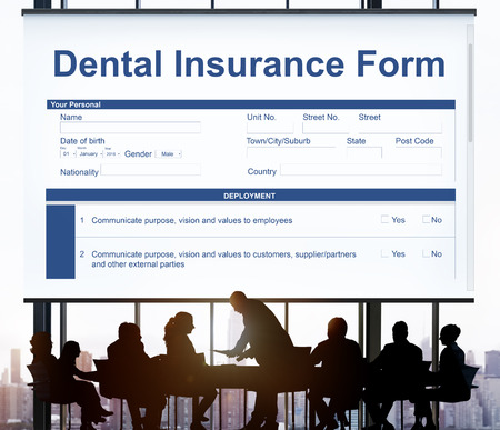 dental insurance: Dental Insurance Form Toothache Oral Mouth Teeth Concept Stock Photo