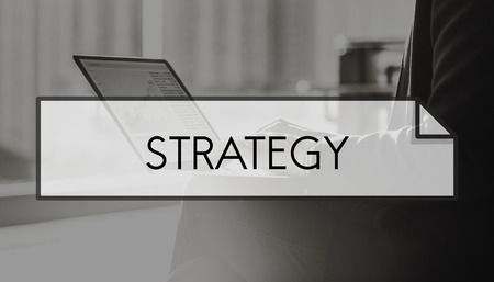 strategize: Strategy Strategize Objectives Aims Planning Concept Stock Photo