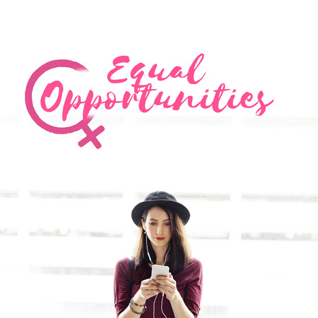Music Rights Girl Power Equality Concept Stock Photo