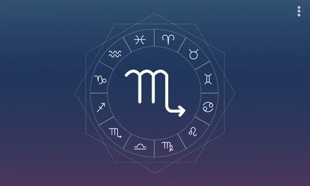 foretell: Scorpio Symbol Horoscope Zodiac Graphic Concept