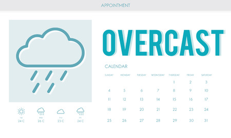 estimation: Overcast Forecast Weather Rainy Cloud Concept