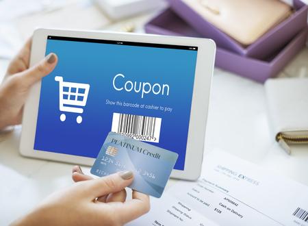 orden de compra: Coupon Purchase Order Discount Concept