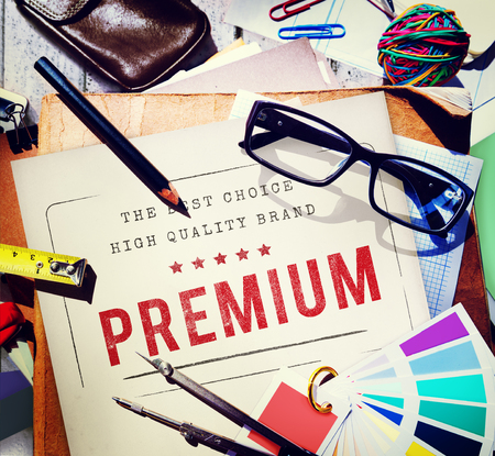 medium group of object: Premium Quality Value Worth Best Graphic Concept