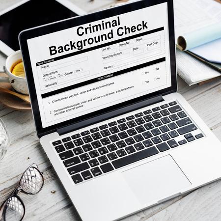 background check: Criminal Background Check Insurance Form Concept