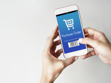 purchase: Purchase Order Shopping Discount Concept