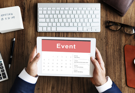 event calendar: Appointment Schedule Calendar Event Meeting Concept