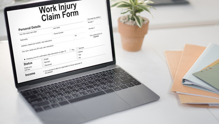 fulfil: Work Injury Compensation Claim Form Concept