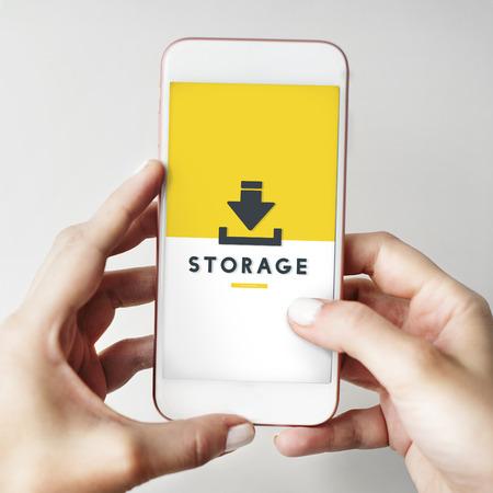 data archiving: Data Backup Storage SYNC Digital Server Internet Concept