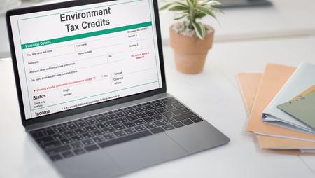 rebates: Environment Tax Credits Document Form Concept