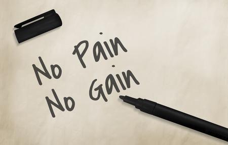 gain: No Pain No Gain Concept Stock Photo