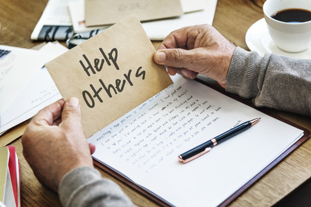 others: Help Others Service Support Concept Stock Photo