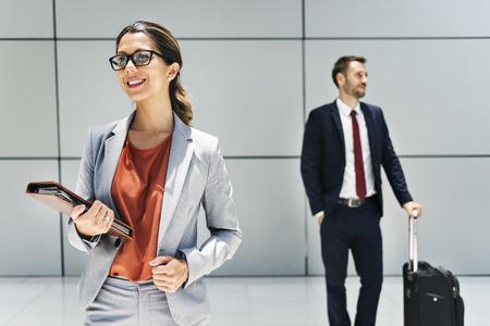 businesswoman suit: Businessman Businesswoman Professional Suit Concept