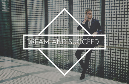 waiting phone call: Business Dream and Success Corporate Concept