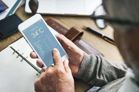 online degree: Weather Forecast Temperature Application Concept