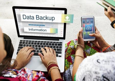 data backup: Data Backup Storage Transfer Concept