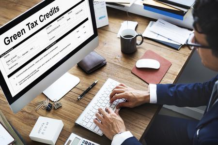 rebates: Green Tax Credits Investment Saving Debates Concept